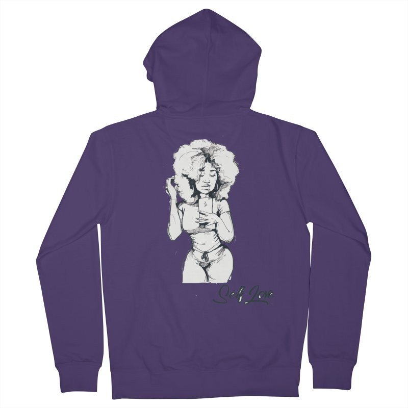 Lil Debbie Self Love Women's French Terry Zip-Up Hoody by Chicago Music's Apparel and Retail Shop