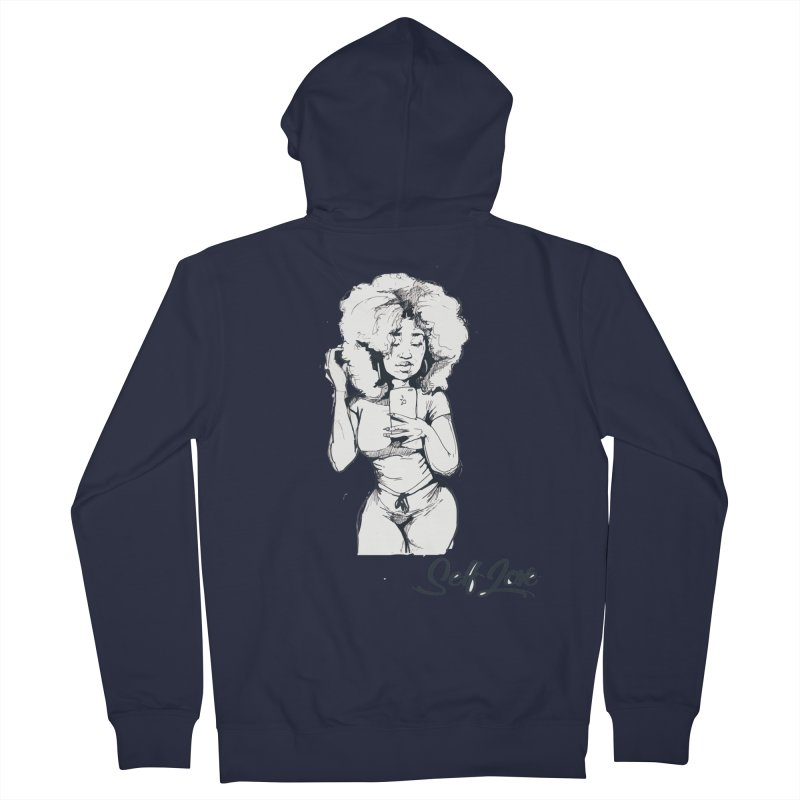Lil Debbie Self Love Men's French Terry Zip-Up Hoody by Chicago Music's Apparel and Retail Shop