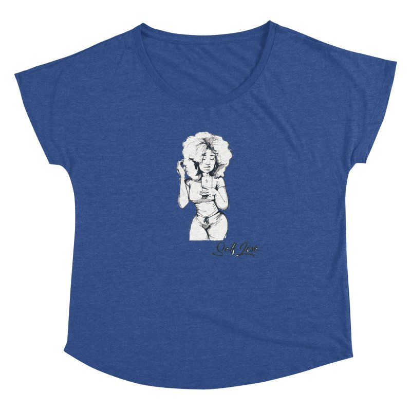 Lil Debbie Self Love Women's Dolman Scoop Neck by Chicago Music's Apparel and Retail Shop