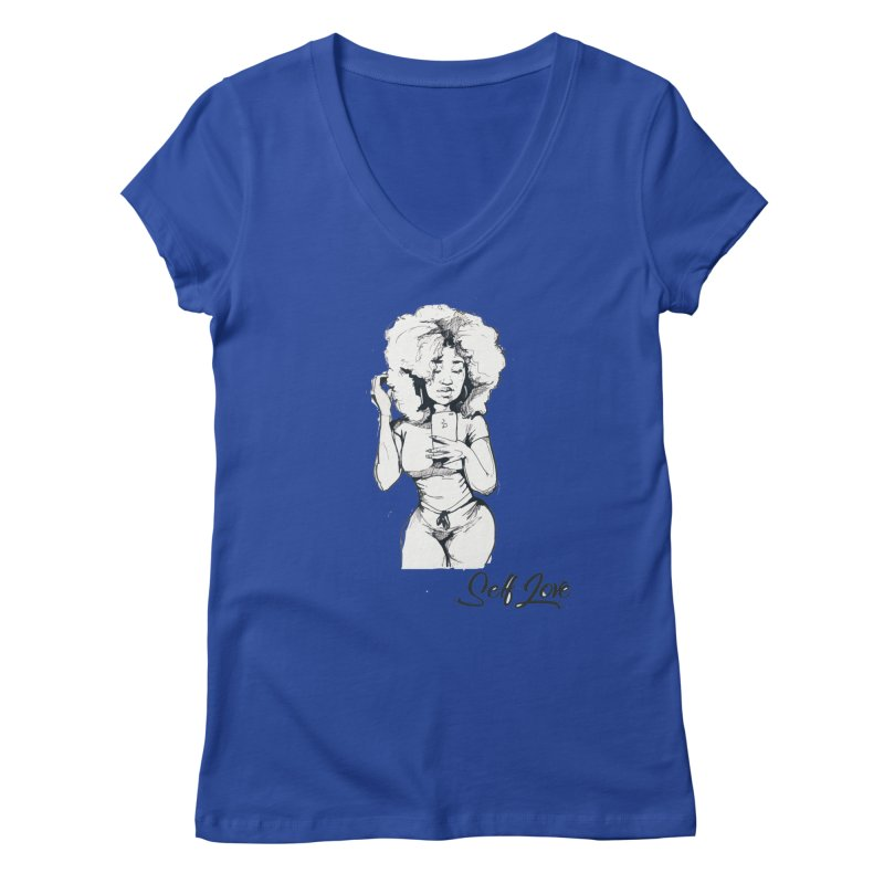 Lil Debbie Self Love Women's V-Neck by Chicago Music's Apparel and Retail Shop