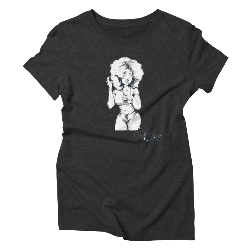 Lil Debbie Self Love Women's Triblend T-Shirt by Chicago Music's Apparel and Retail Shop