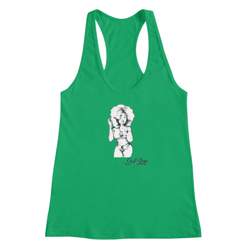 Lil Debbie Self Love Women's Racerback Tank by Chicago Music's Apparel and Retail Shop