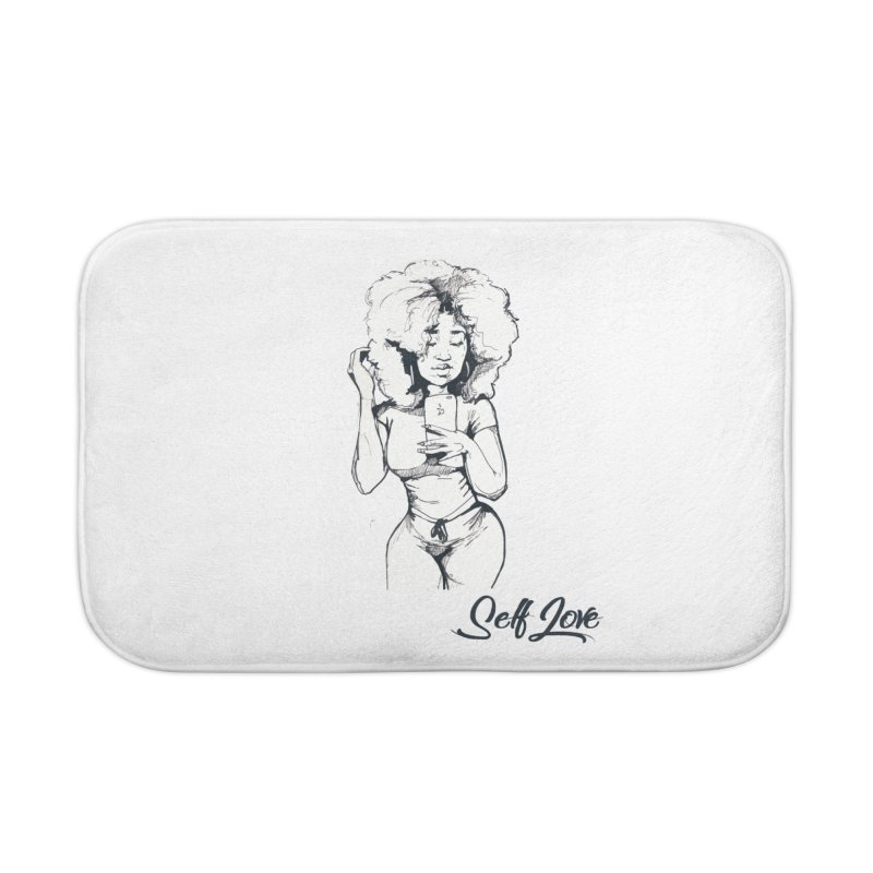 Lil Debbie Self Love Home Bath Mat by Chicago Music's Apparel and Retail Shop