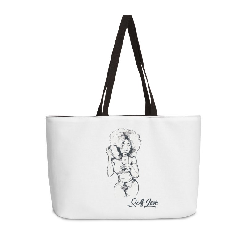 Lil Debbie Self Love Accessories Weekender Bag Bag by Chicago Music's Apparel and Retail Shop