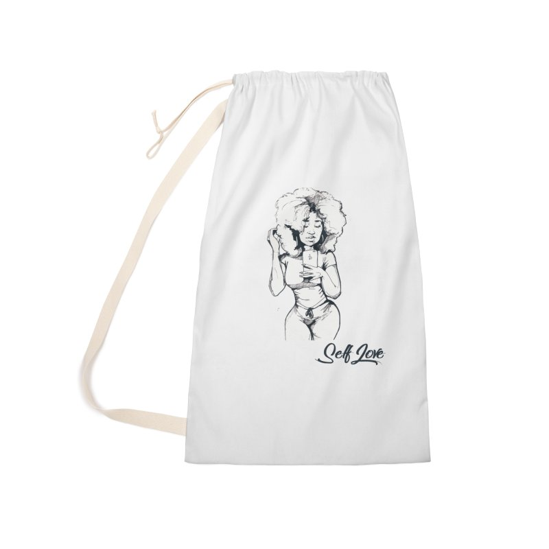 Lil Debbie Self Love Accessories Laundry Bag Bag by Chicago Music's Apparel and Retail Shop