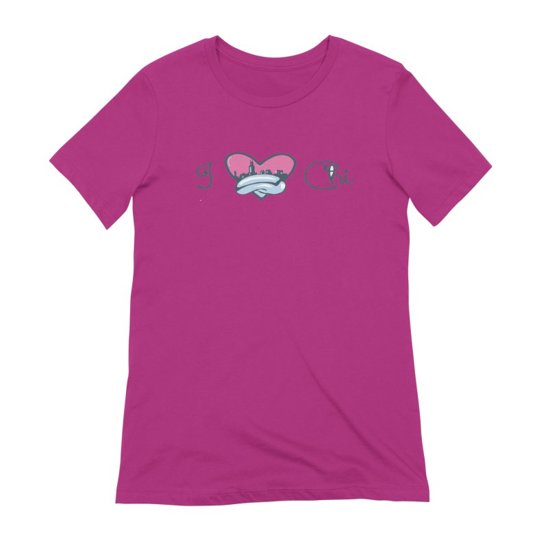 I Love The Chi Women's Extra Soft T-Shirt by Chicago Music's Apparel and Retail Shop
