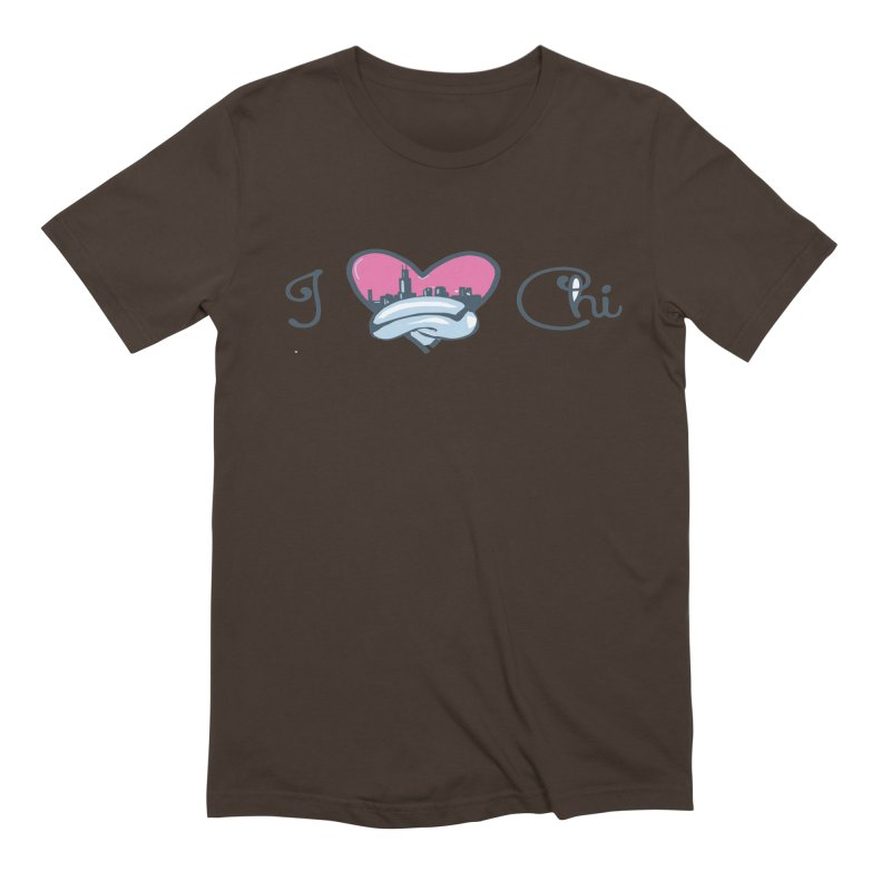 I Love The Chi Men's Extra Soft T-Shirt by Chicago Music's Apparel and Retail Shop