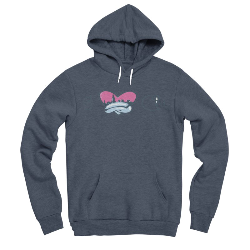 I Love The Chi Men's Sponge Fleece Pullover Hoody by Chicago Music's Apparel and Retail Shop