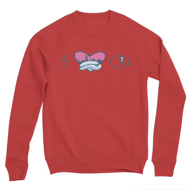 I Love The Chi Men's Sponge Fleece Sweatshirt by Chicago Music's Apparel and Retail Shop