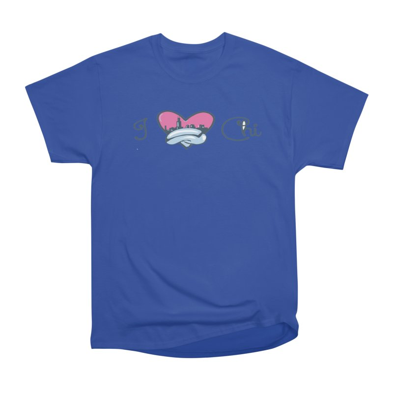 I Love The Chi Men's Heavyweight T-Shirt by Chicago Music's Apparel and Retail Shop