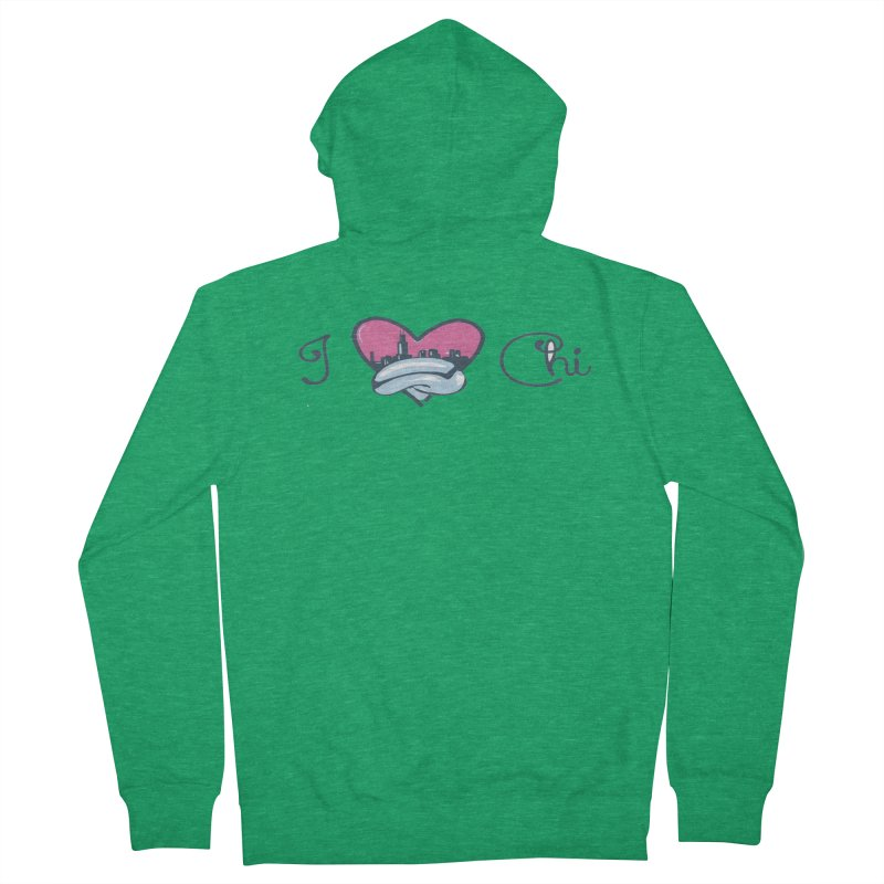 I Love The Chi Men's Zip-Up Hoody by Chicago Music's Apparel and Retail Shop