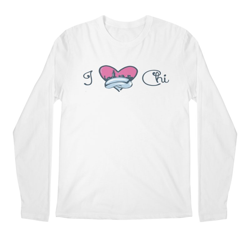 I Love The Chi Men's Regular Longsleeve T-Shirt by Chicago Music's Apparel and Retail Shop