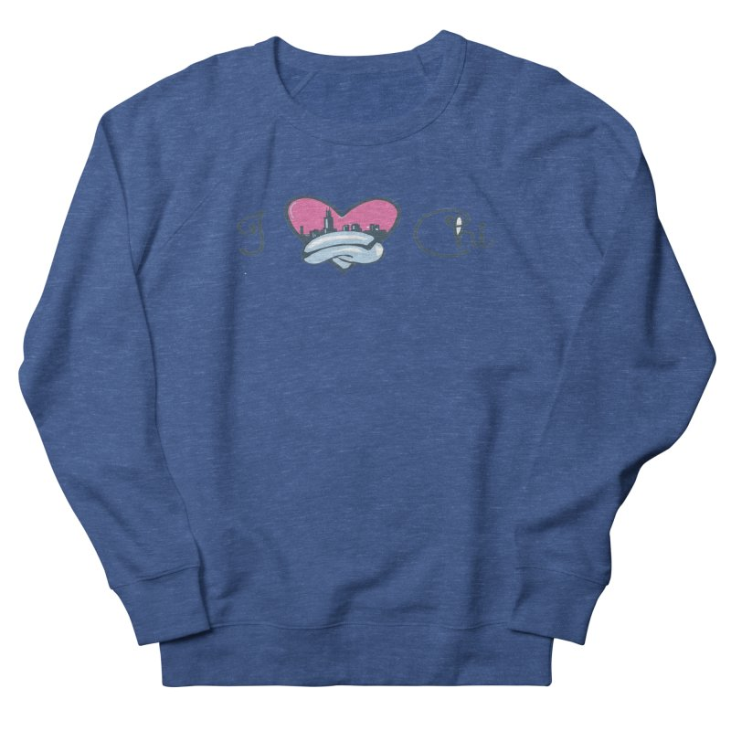 I Love The Chi Men's Sweatshirt by Chicago Music's Apparel and Retail Shop