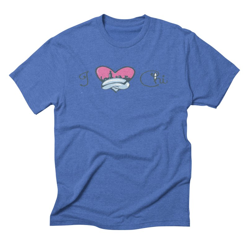 I Love The Chi Men's T-Shirt by Chicago Music's Apparel and Retail Shop