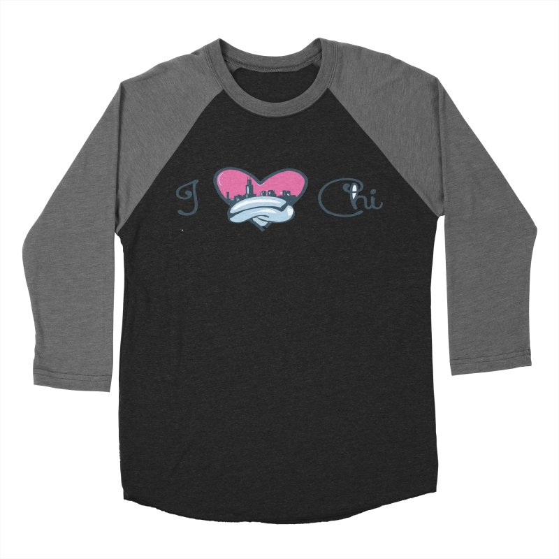 I Love The Chi Men's Baseball Triblend Longsleeve T-Shirt by Chicago Music's Apparel and Retail Shop