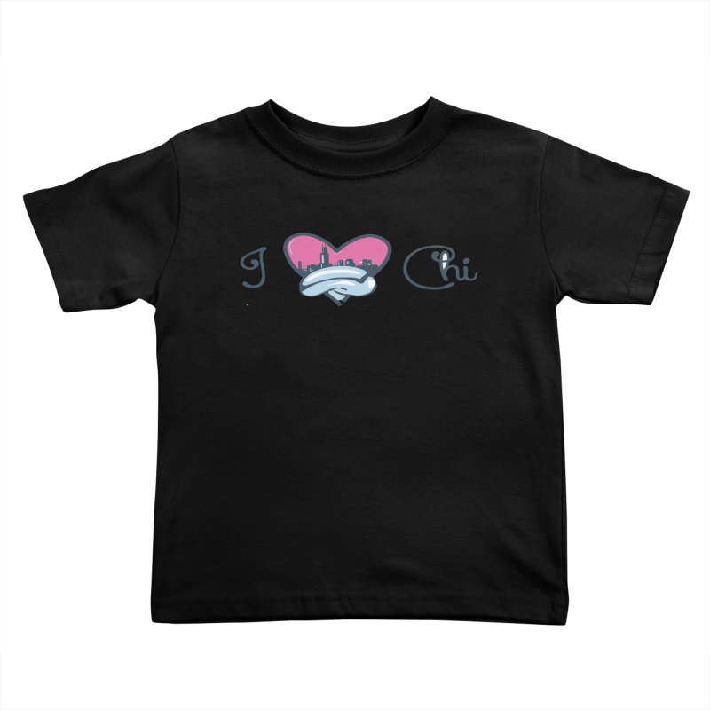 I Love The Chi Kids Toddler T-Shirt by Chicago Music's Apparel and Retail Shop