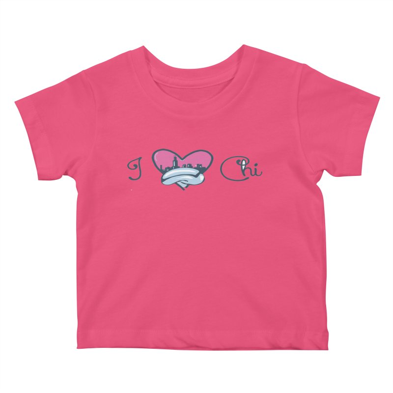 I Love The Chi Kids Baby T-Shirt by Chicago Music's Apparel and Retail Shop