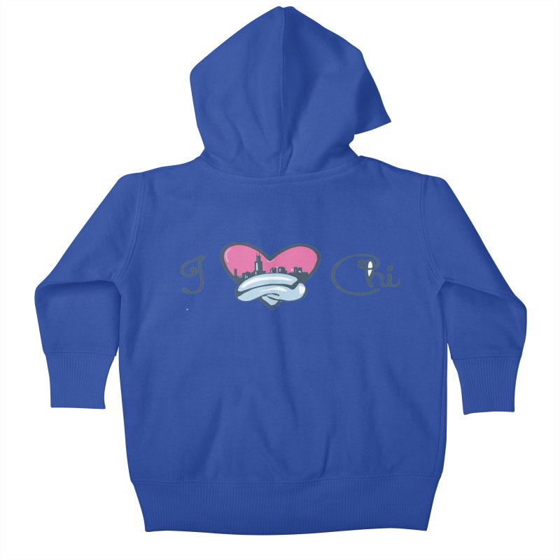 I Love The Chi Kids Baby Zip-Up Hoody by Chicago Music's Apparel and Retail Shop