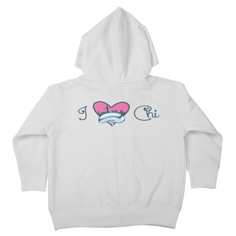 I Love The Chi Kids Toddler Zip-Up Hoody by Chicago Music's Apparel and Retail Shop