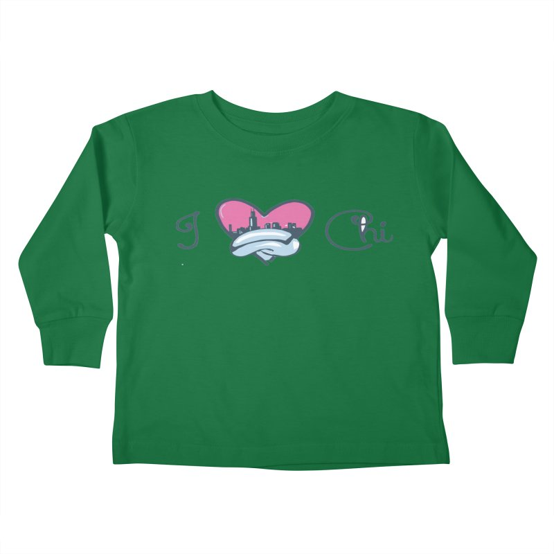 I Love The Chi Kids Toddler Longsleeve T-Shirt by Chicago Music's Apparel and Retail Shop