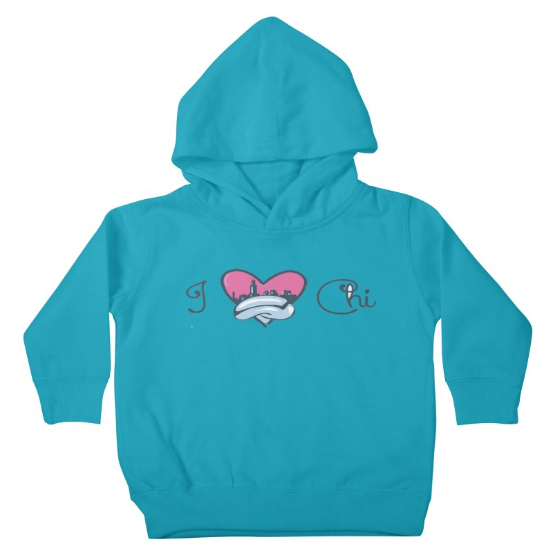 I Love The Chi Kids Toddler Pullover Hoody by Chicago Music's Apparel and Retail Shop