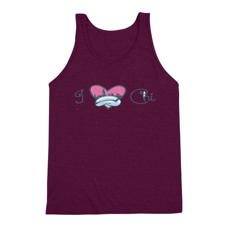 I Love The Chi Men's Triblend Tank by Chicago Music's Apparel and Retail Shop