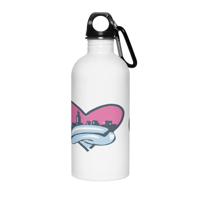 I Love The Chi Accessories Water Bottle by Chicago Music's Apparel and Retail Shop