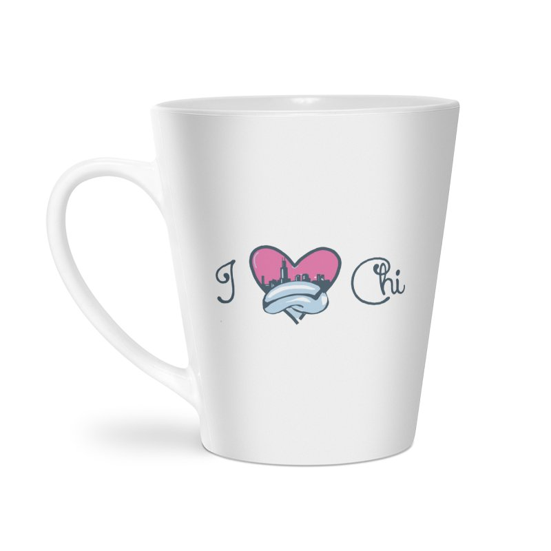 I Love The Chi Accessories Latte Mug by Chicago Music's Apparel and Retail Shop