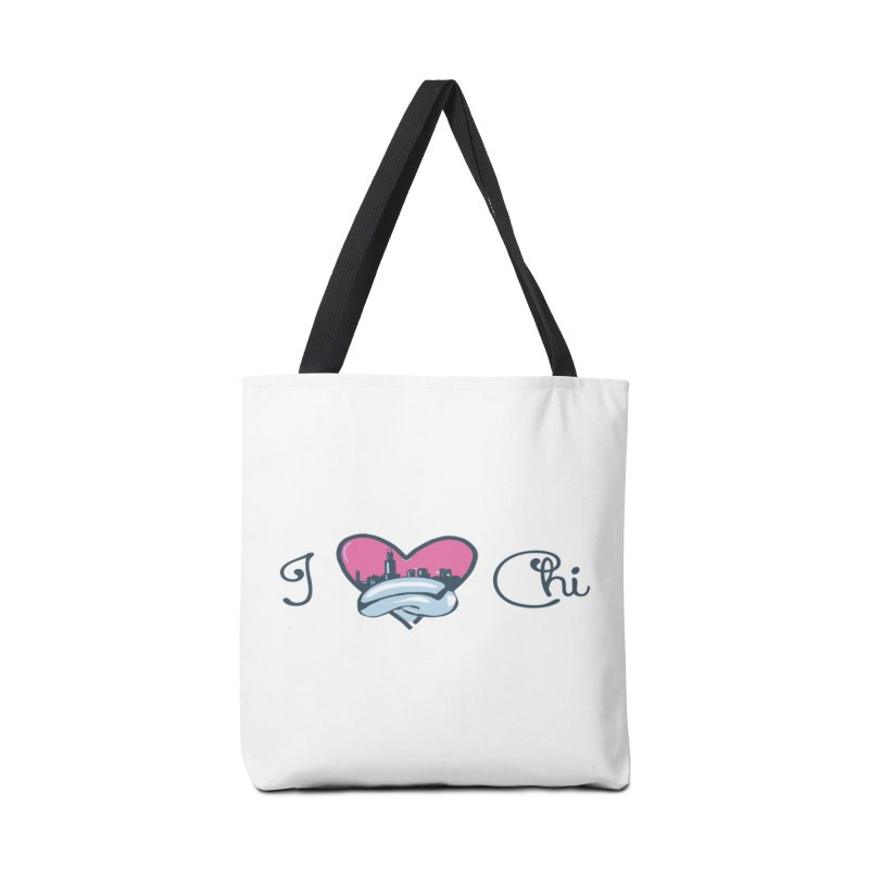 I Love The Chi Accessories Tote Bag Bag by Chicago Music's Apparel and Retail Shop