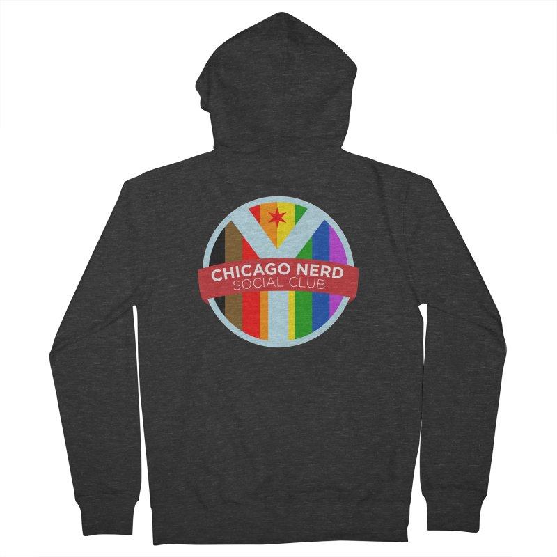 Chicago Nerd Social Club Pride Men's Zip-Up Hoody by Chicago Nerd Social Club