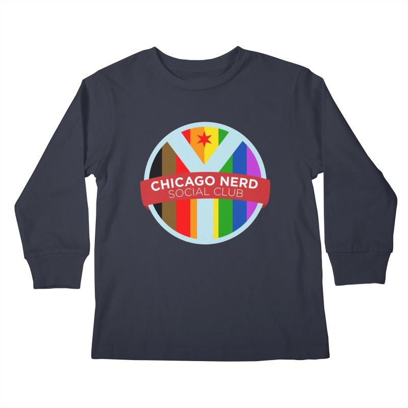 Chicago Nerd Social Club Pride Kids Longsleeve T-Shirt by Chicago Nerd Social Club