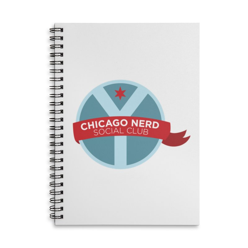 Chicago Nerd Social Club Accessories Lined Spiral Notebook by Chicago Nerd Social Club