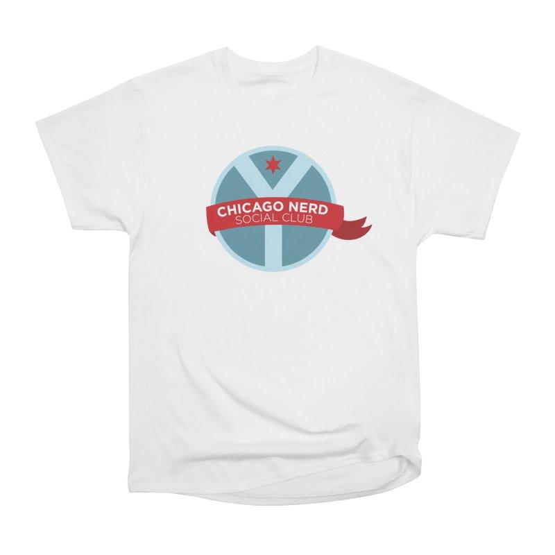Chicago Nerd Social Club Men's Heavyweight T-Shirt by Chicago Nerd Social Club