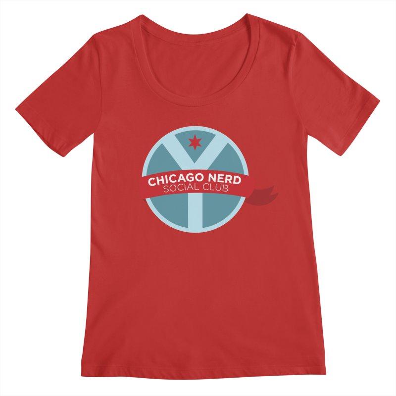 Chicago Nerd Social Club Women's Regular Scoop Neck by Chicago Nerd Social Club
