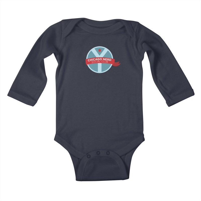 Chicago Nerd Social Club Kids Baby Longsleeve Bodysuit by Chicago Nerd Social Club