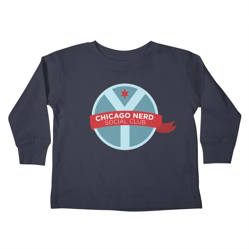 Chicago Nerd Social Club Kids Toddler Longsleeve T-Shirt by Chicago Nerd Social Club