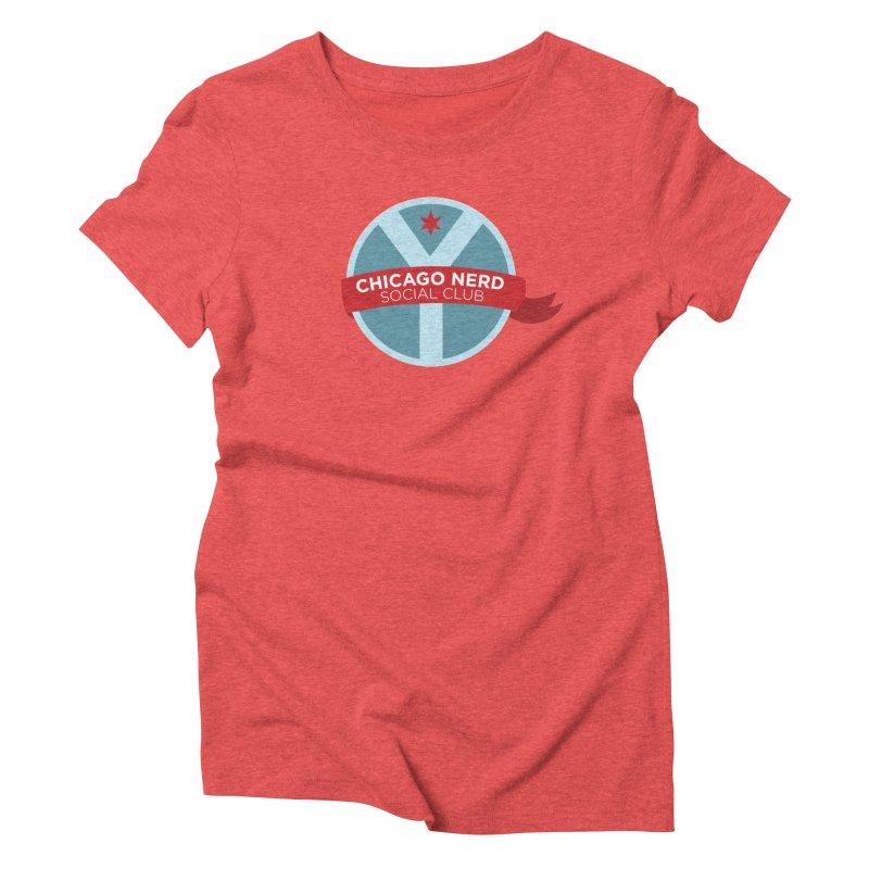 Chicago Nerd Social Club Women's Triblend T-Shirt by Chicago Nerd Social Club