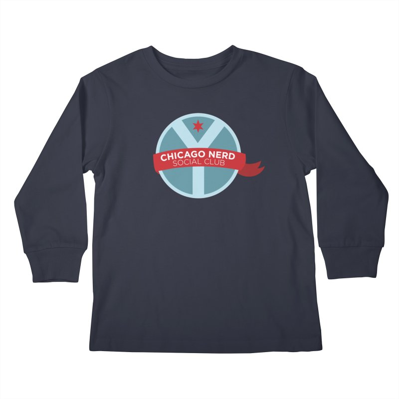 Chicago Nerd Social Club Kids Longsleeve T-Shirt by Chicago Nerd Social Club