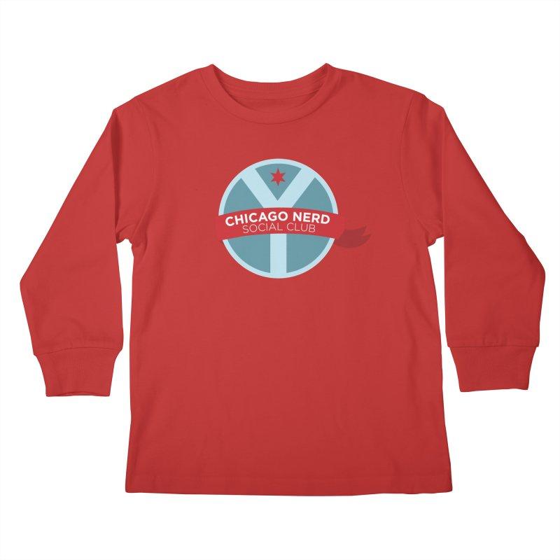Chicago Nerd Social Club Kids Longsleeve T-Shirt by Chicago Nerd Social Club