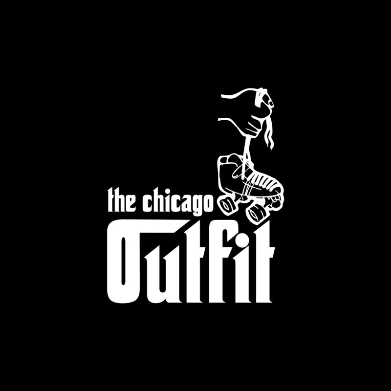 Outfit Logo White by Chicago Outfit Roller Derby