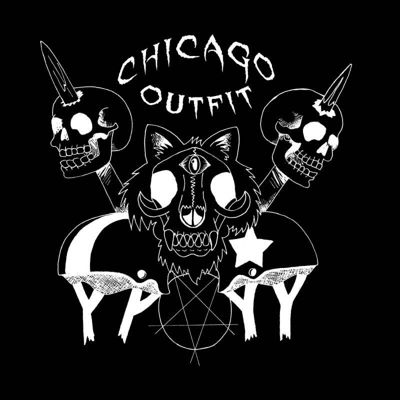 Heads on Sticks - WHITE by Chicago Outfit Roller Derby