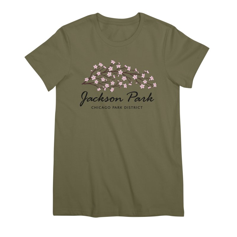 Jackson Park Cherry Blossoms Women's T-Shirt by chicago park district's Artist Shop