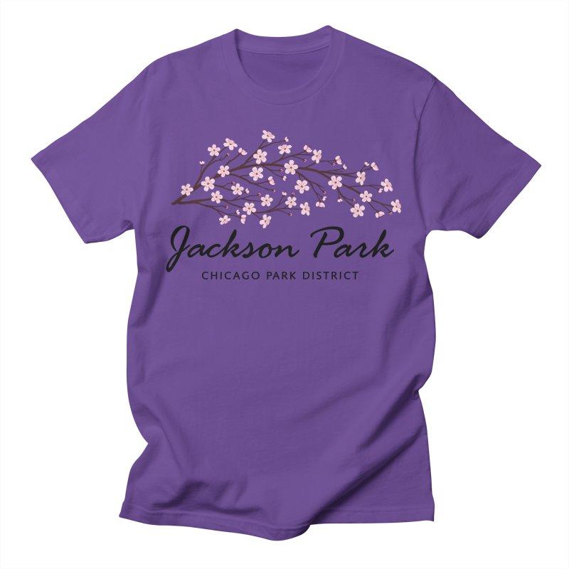 Jackson Park Cherry Blossoms Men's T-Shirt by chicago park district's Artist Shop