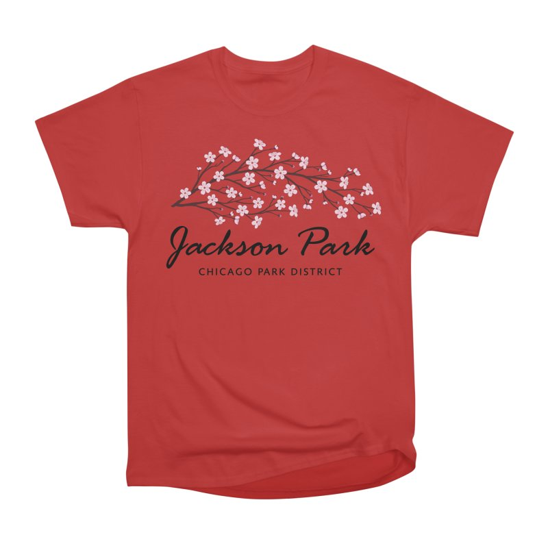 Jackson Park Cherry Blossoms Men's Heavyweight T-Shirt by chicago park district's Artist Shop
