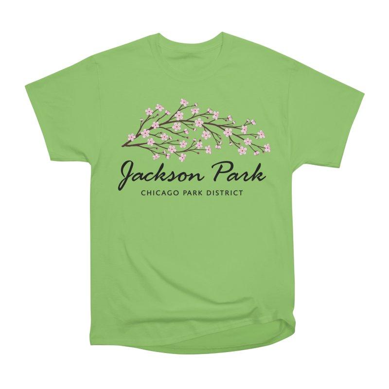 Jackson Park Cherry Blossoms Women's Heavyweight Unisex T-Shirt by chicago park district's Artist Shop