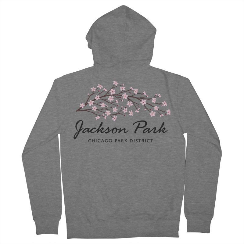 Jackson Park Cherry Blossoms Women's French Terry Zip-Up Hoody by chicago park district's Artist Shop