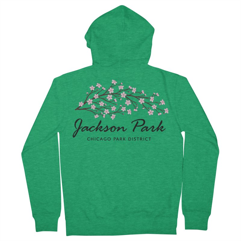 Jackson Park Cherry Blossoms Men's Zip-Up Hoody by chicago park district's Artist Shop