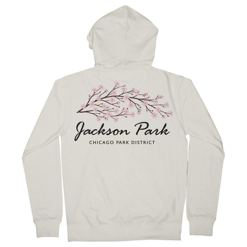 Jackson Park Cherry Blossoms Men's Zip-Up Hoody by chicago park district's Artist Shop