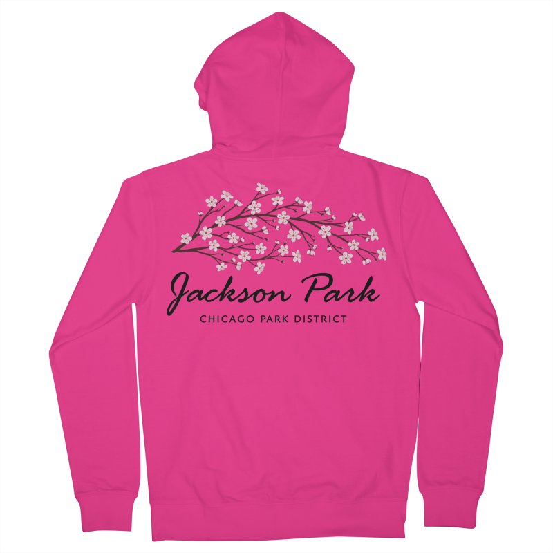 Jackson Park Cherry Blossoms Men's French Terry Zip-Up Hoody by chicago park district's Artist Shop