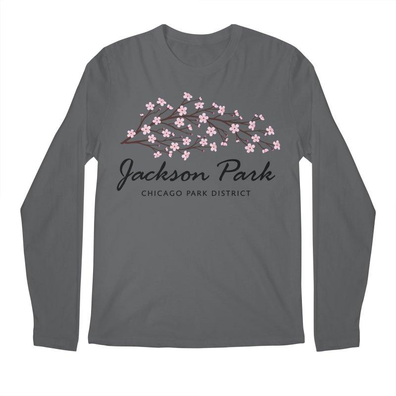 Jackson Park Cherry Blossoms Men's Longsleeve T-Shirt by chicago park district's Artist Shop